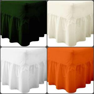 Luxury Cotton Bled Valance SHEET Box Frill Bed Skirt Dark Green Orange # SALE #