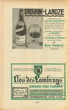 ADVERT Vineyard Wine Drouhin Larose Vougeot Gevrey Chambertin Clos des Lambrays