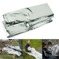 Emergency Blanket Outdoor Rescue Kit Thermal Space Survival Sleeping Bag Shelter
