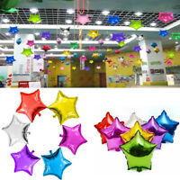 10Pcs 10'' Mini Star Helium Foil Balloon Girl Birthday Party Decor Baby Shower