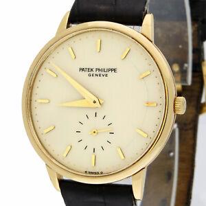 Patek Philippe Calatrava 18K Gold 3893 Sigma Dial 33mm Mechanical Watch w/Box