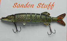 Big Fish Swimbait Large Sized Lure Pike Natural Green 210mm Style 2