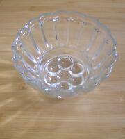 Vintage Glass Round Jelly / Blancmange Mould Mold 1pint 15cm diameter