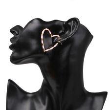 Korea Style Heart Drop Earrings Stripe Women Trendy Wedding Statement Jewelry SK