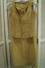 OASIS Suede Midi Skirt + Waistcoat Outfit Skirt UK12 M, Top UK10 S Ensemble Suit