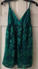 Vintage Victoria's Secret nightie, green, size P/S, floral, EUC