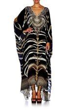 Silk Kaftan Dresses for Women with Batwing Sleeve