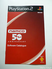 SONY PLAYSTATION 2 / Software Catalogue Namco 50 anniversary [ Version PAL FR ]