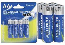 AA RICARICABILI NI-MH 1300 mAh Batteria Batterie x 4