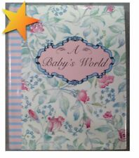 A Baby's World by Lisa Berman 1992 Hardcover Miniature Book of Quotes WZ27719