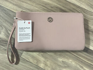 NWT Lululemon Double Up Pouch - Muse Pink Blush Taupe Wristlet Wallet