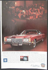 Cadillac Eldorado Original 1972 GM  Vintage Ad