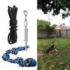 Pet Durable Spring Pole Dog Rope Toys Hanging Exercise Rope Pull+5M Black Ropes