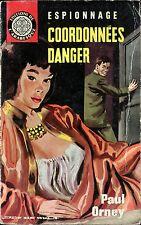 Arabesque Espionnage 306 - Paul Orney -Coordonnées danger- EO 1964 - Jef de Wulf