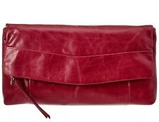 NWT! Hobo International Arlene Clutch  - Leather Merlot (dk Red)  $148