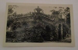 ANTIQUE WEST BEND IOWA BEAUTIFUL OVERGROWN GROTTO REAL PHOTO POSTCARD