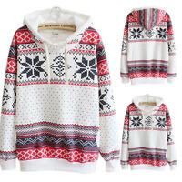 Women Hoodie Sweatshirt Jumper Sweater Coat Hooded Pullover Top Blouse Size 6-20