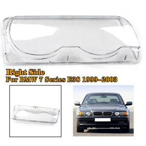 Right Side Car Clear Headlight Headlamp Lens Cover Shell For BMW E38 1999-2001