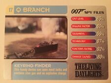 Keyring Finder The Living Daylights #17 Q Branch - 007 James Bond Spy Files Card