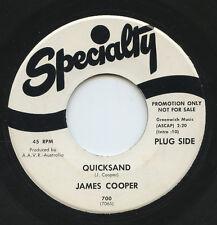 HEAR - Rare Rock 45 & Insert - James Cooper - Quicksand - Specialty #700 - Promo