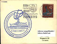 Schiffspost Brief Schiff MS STADT FLENSBURG 1968 Jubiläums-Sonderstempel Ship