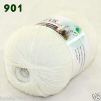 Sale 1 ball x50gr LACE Soft Crochet Acrylic Wool Cashmere hand knitting Yarn 901