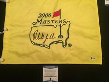 PHIL MICKELSON SIGNED AUTO OFFICIAL 2006 PGA MASTERS FLAG BECKETT BAS