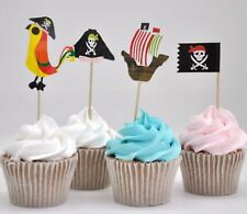 20 x Pirate Cupcake Toppers Cake Decorations Birthday Childrens Novelty Picks