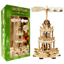 German Christmas Pyramid Wood Nativity Scene- 18in Tabletop Christmas Decoration