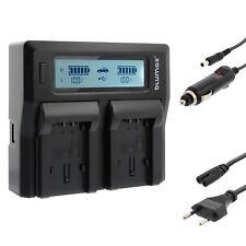 BATTERIA Caricabatterie Dual Charger Per Panasonic vw-vbk180 vw-vbk360 vw-vbl090 | 90366