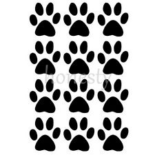 Set of 12 Dog Paw Prints Sticker Vinyl Decal Car Glass Window Wall mirror Decor