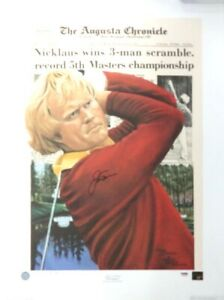 Jack Nicklaus Autographed Signed 20x27 Lithograph 1975 Masters PSA/DNA Q66429