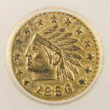 1856 California Gold Token - Round Indian - AU58 Details