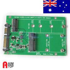 mSATA & M.2 (B-Key NGFF) 2in1 Multiple Sized SSD to SATA 3 III Adapter Converter