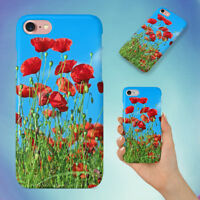 NATURE RED FLOWER POPPY HARD BACK CASE FOR APPLE IPHONE PHONE