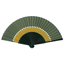"SENSU Fächer aus Bambus + Stoff ""IroIro -Two-Tone"", grün+senf, folding fan"