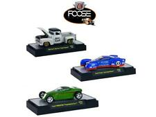 Chip Foose Release 3, 3 Cars Set WITH CASES 1/64 Diecast Model Cars by M2 Machin