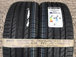 2 Continental Sport SUV BRAND NEW Car Tyres 235 50 18 Mercedes Benz MO 2355018