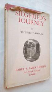 SIEGFRIED'S JOURNEY,SIEGFRIED SASSOON 1ST/1ST PRINT 1945 IN JACKET WOOD ENGRAVE