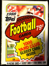 1988 Topps Football Cello Pack ~ With VINNY TESTAVERDE RC ON TOP