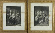 PAIRE DE ENREGISTRÉE. SCÈNES DE GENRE. LEROUX ET PICHARD. LE SIÈCLE XIX.