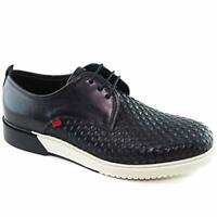 Marc Joseph New York Mens Tribeca Leather Low Top Lace Up, Black, Size 11.0 GSb5