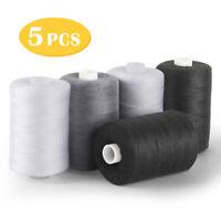 Sewing Threads - 5 Pcs Spools Thread Mixed Cotton, 1000 Yards Sewing Kits DIY