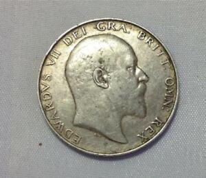 GB Edward VII 1909 Silver Half Crown
