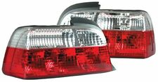 BMW 3 Series E36 (1993-1997) Red & Clear Back Rear Tail Lights Lamp Set - Pair