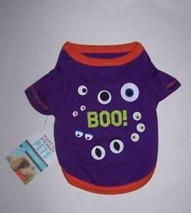 NWT Martha Stewart Pets GITD Halloween Dog Shirt for Dogs Cats Size XS, S, or M
