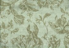 5.50 Yds Designer Fabric Green Brown  Cotton Drapery Upholstery