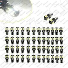 50 x T10 194 168 W5W 5730 8-LED Canbus SMD White Car Side Wedge Light Lamp Bulbs