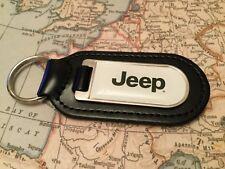JEEP Stampa qualità NERO VERA PELLE Portachiavi Wrangler Cherokee Compass