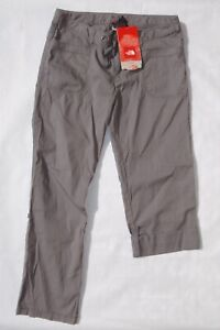 The North Face women's 14 gray tech wear noble stretch pants roll up